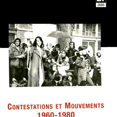 Cahier n°21. Contestations et mouvements