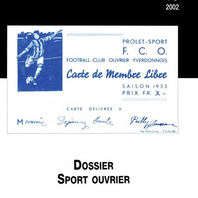 Cahier n°18. Sport ouvrier