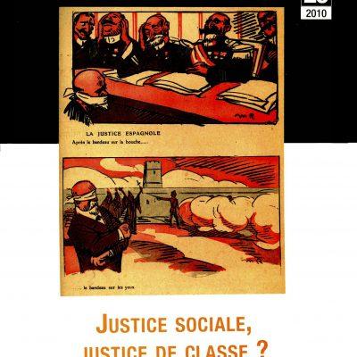 Cahier n°26. Justice sociale, justice de classe ?